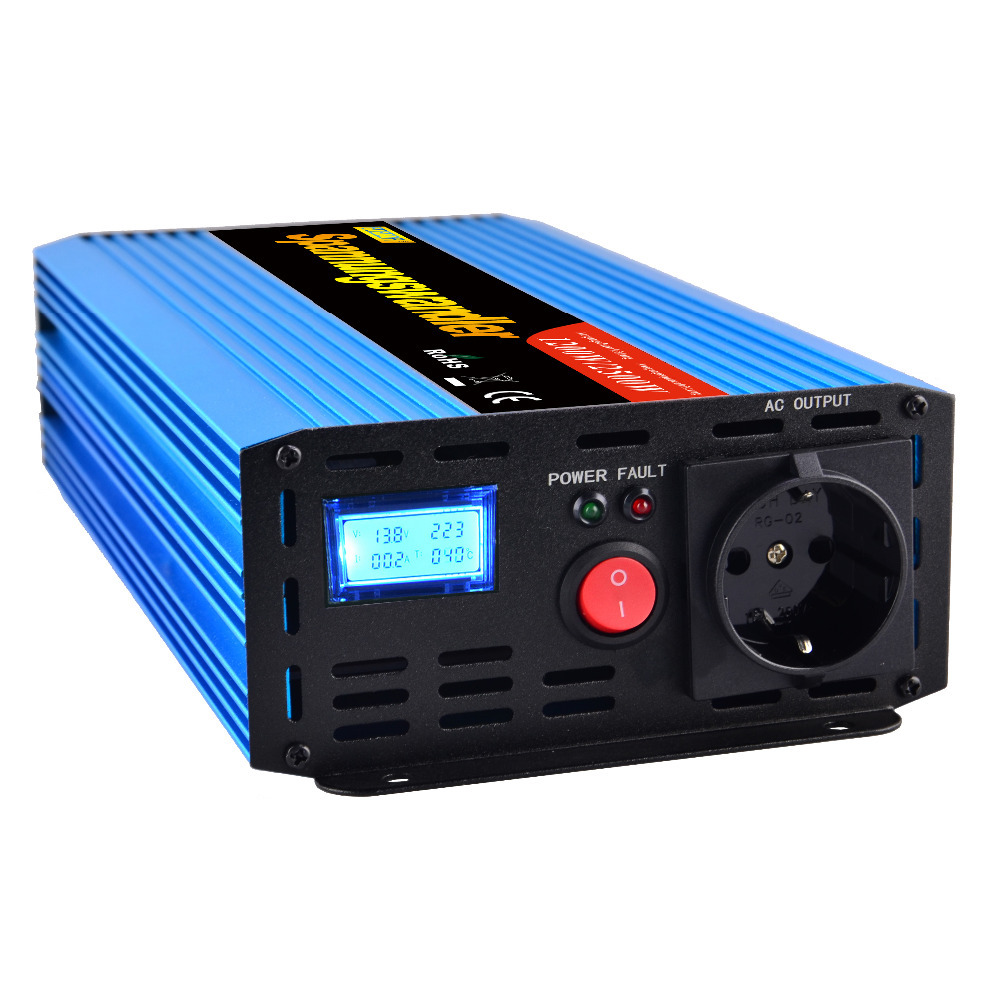 цена на 1200W peak 2500W DC 12V to AC 220V 230V 240V modified sine wave inverter converter off grid solar car power inverter 1500w 1000w