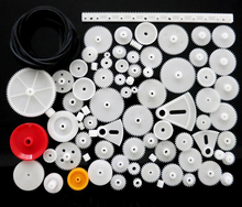 81 Kinds of plastic gears package gear fan teeth rack worm pulley  transmission belt toy cars DIY science and technology model