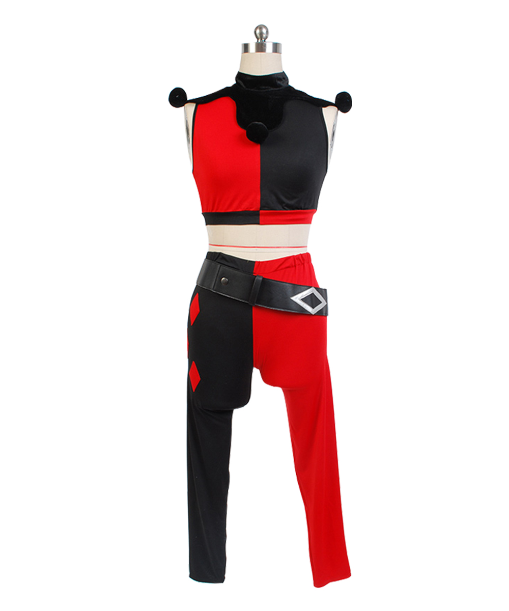 Hot Cosplay Comics Batman Harley Quinn Cosplay Costume Adult Women Men Full Set Halloween Carnival Costume
