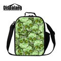 Dispalang Lunch Cooler Bags for Work Skull Insulated Lunch Container for Children Kids School Cool Messenger Meal Bags for Girls