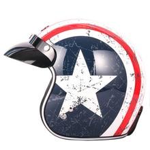 TORC T50 Route 66 Halley moto rcycle casco aperto del fronte retro vintage moto cross caschi casco capacete moto casco DOT approvato