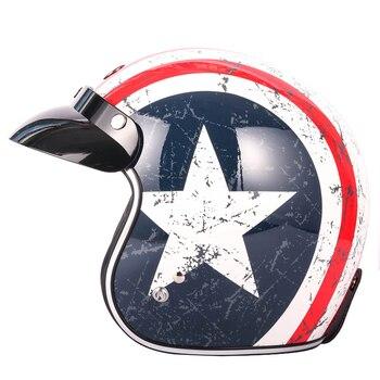 TORC T50 Route 66 Halley motorcycle helmet open face retro vintage motocross helmets casco capacete moto helmet DOT Approved