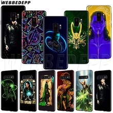 WEBBEDEPP Marvel Hero Loki TPU Soft Case voor Samsung Galaxy Note 8 9 S6 S7 S8 S9 S10 S10e Rand plus(China)