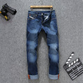 Famous Brand Jeans Hombres 2016 Diseñador de la Llegada Hombres Zipper Fly Vaqueros Ocasionales de Los Hombres 100% Algodón Pantalones Vaqueros Grandes del Tamaño Homme