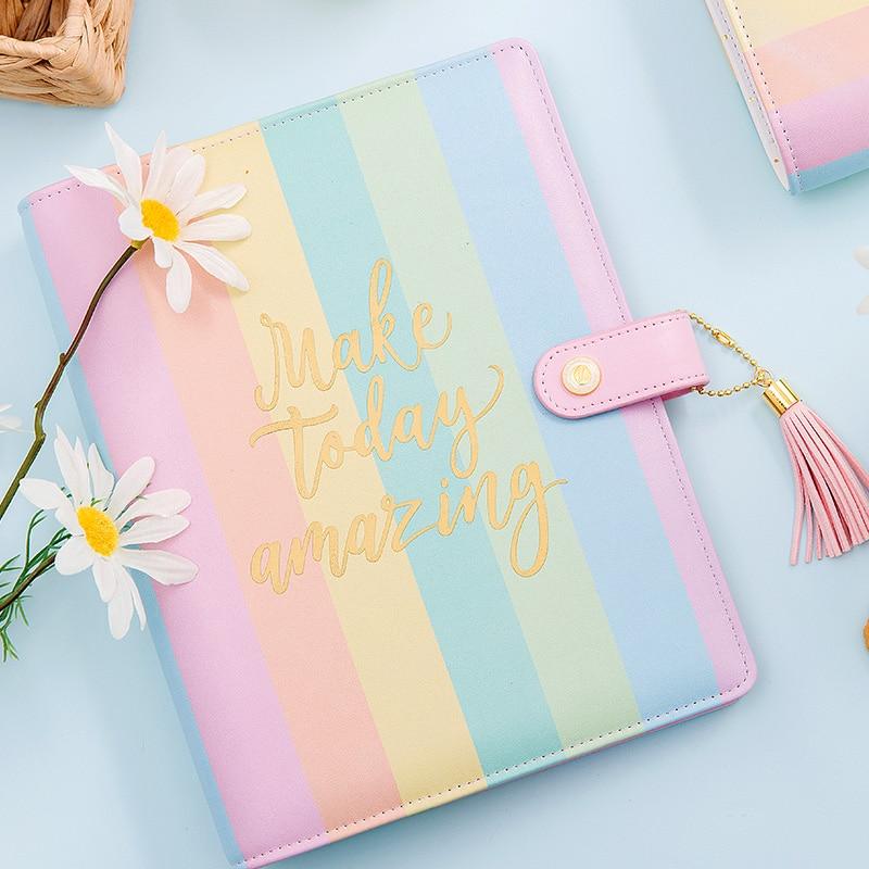 Lovedoki 2018 korean Candy spalva vaivorykštės spiralė - Bloknotai ir užrašų knygelės