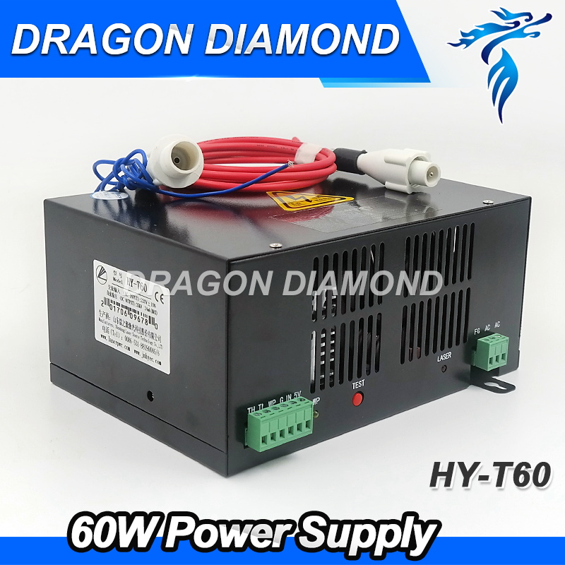 HY-T60  60W Co2 Laser Power Supply / Laser Machine Power Supply for laser cutting and engraving machine