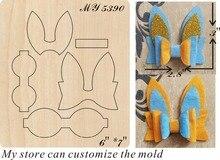 Bunny Ear Bow - 2 accessories wooden die Regola Acciaio Die Misura (MY  )