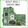 Free Shipping For ASUS Motherboard K54LY REV 2 1 USB3 0 1GB HM65 216 0809000 X54HR