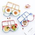 Kreative Cartoon Lebensmittel Lkw Keramik Platte Gericht kinder Porzellan Geschirr Lebensmittel Behälter Geschirr