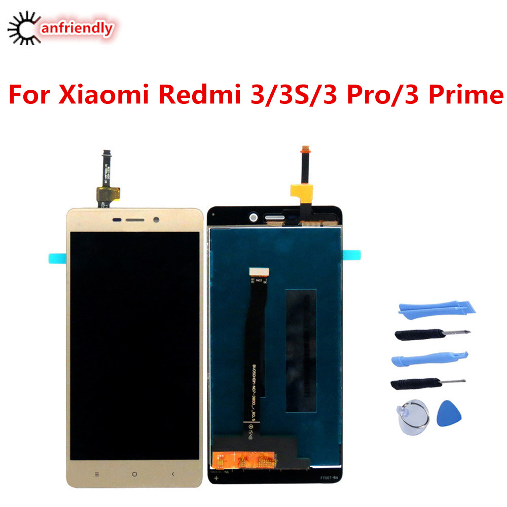 Para Xiaomi Redmi 3/3 S/3 Pro/Prime 3 Display LCD + Substituição Da Tela de Toque Digitador tela assembléia Para Xiaomi Redmi 3 S