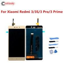 עבור Xiaomi Redmi 3/3 S/3 פרו/3 ראש LCD תצוגה + מסך מגע החלפת Digitizer הרכבה עבור Xiaomi Redmi 3 S תצוגת מסך