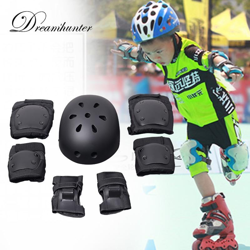 7Pcs/set Kids Roller Skate Skateboard Sports Safety Set Helmet Elbow Wrist Knee Pads Children's Sport Protection triple 8 ep 55 elbow pads skate safety pads black jr xs