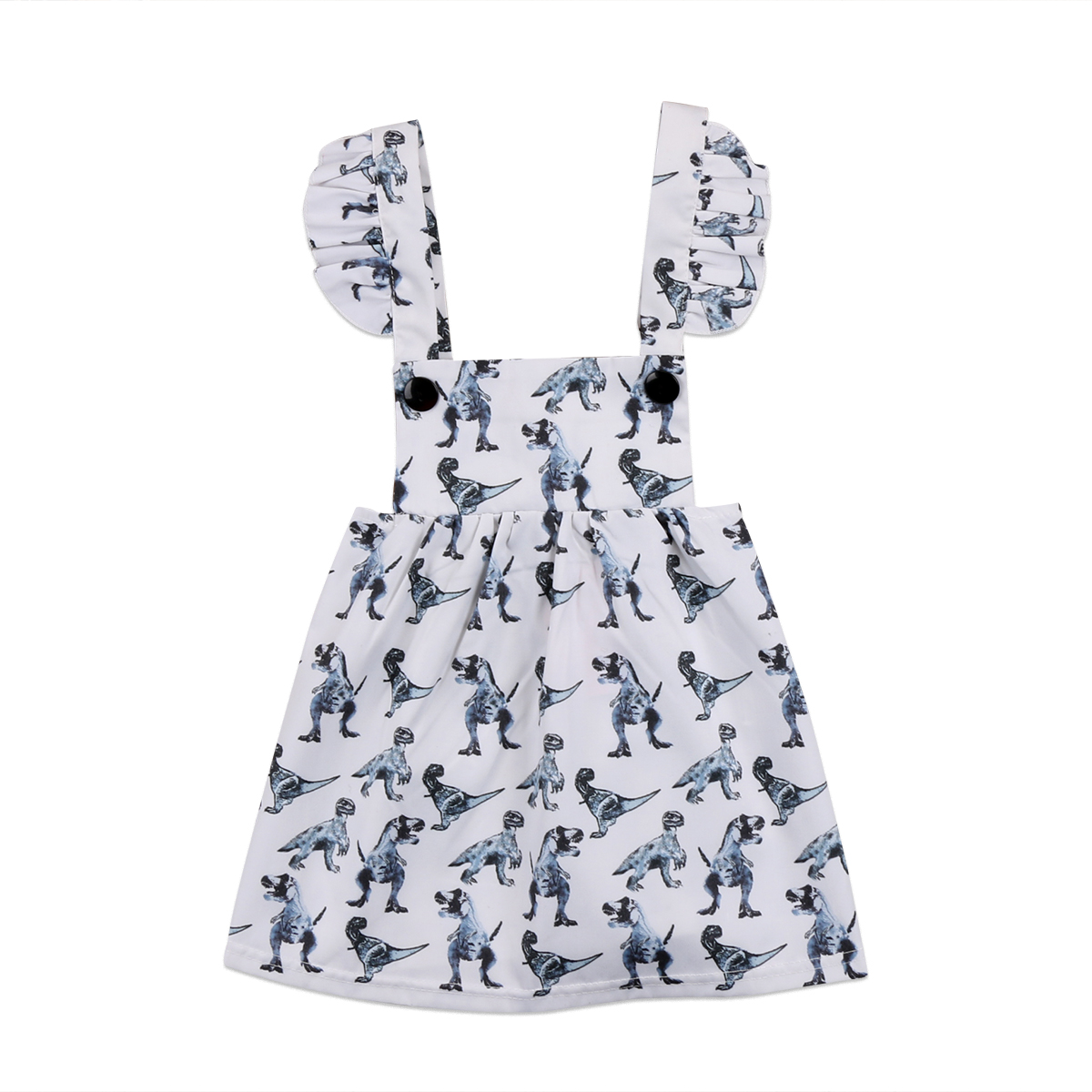 2017 Pretty Newborn Baby Girl Dinosaur Sleeveless Dress ...