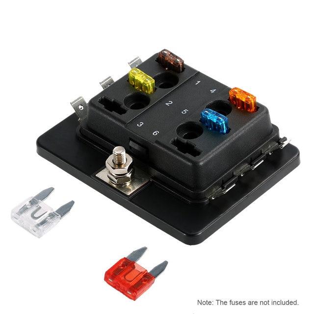 online shop 6 way mini blade fuse box holder apm atm 5a 10a 25a for rh m aliexpress com  4 way mini blade fuse box