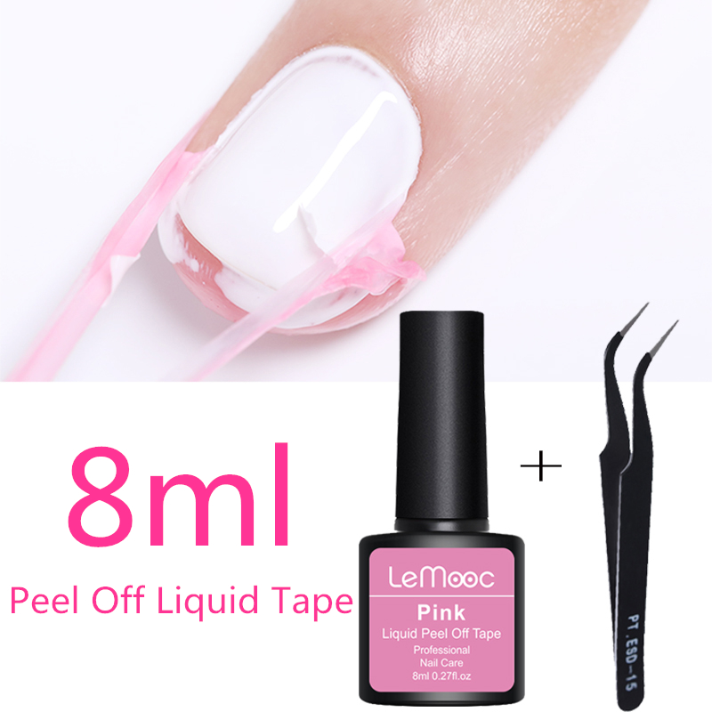 Lemooc 8ml Antifreezing Peel Off Liquid Tape Cream Nail Latex Cuticle Guard Protection Finger Skin  Nail Art Care