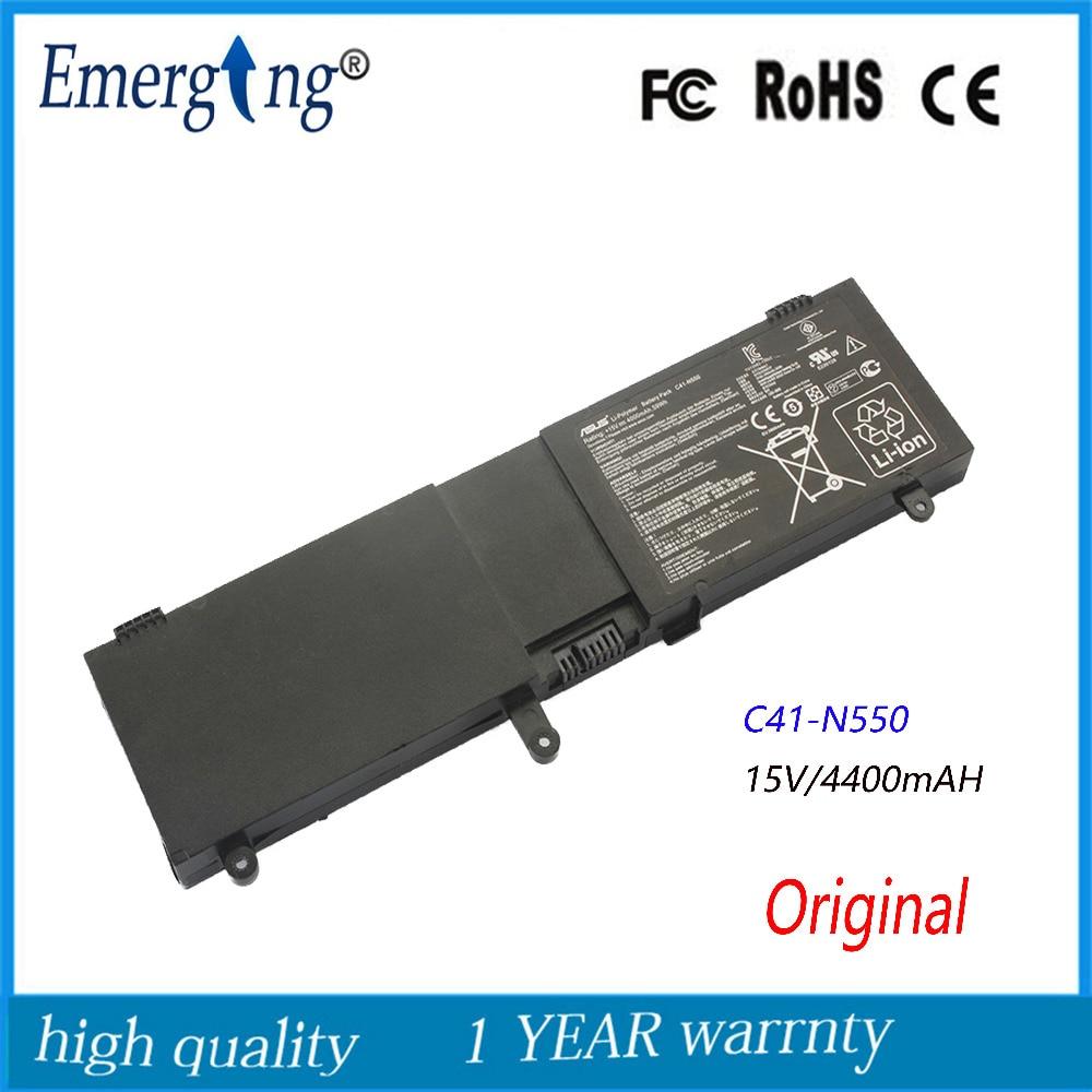 New Original High Quality  Laptop Battery for ASUS C41-N550 N550 N550J N550JA N550JV N550JK Q550L Q550LF N550X47JV G550JK G550JK