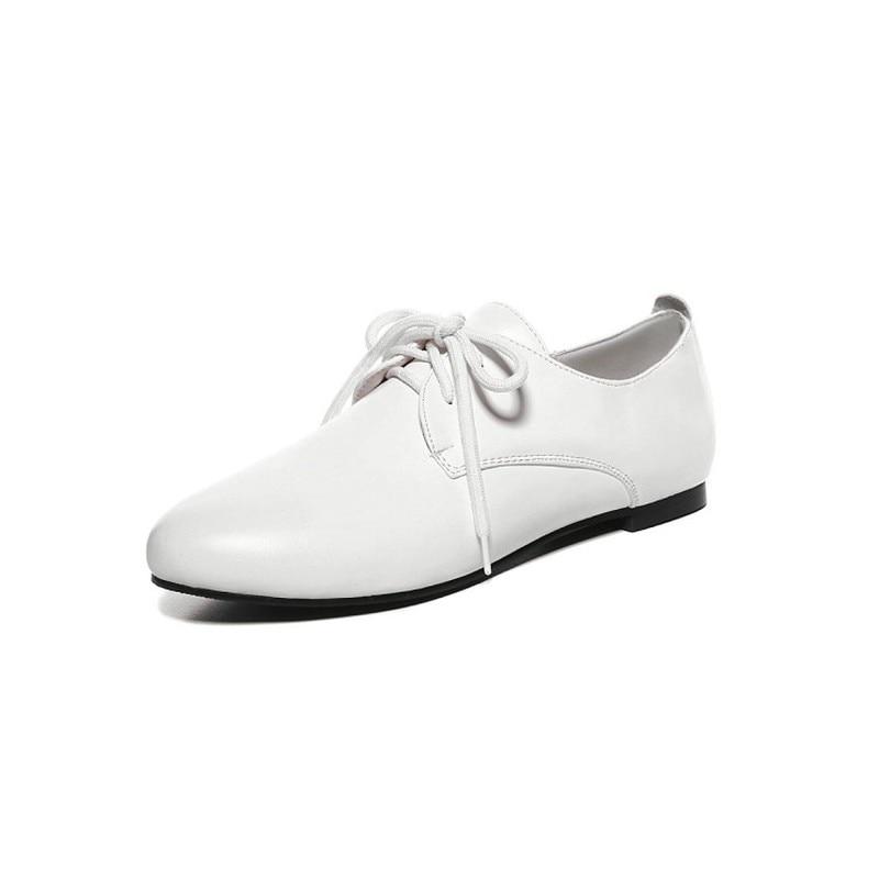up Noir Blanc blanc Printemps 47 Plat Étudiant Dentelle De Femme Talon Maziao Plus Femmes Taille Beige Chaussures Mode Nouvelles Casual noir La Appartements qU7w4gT
