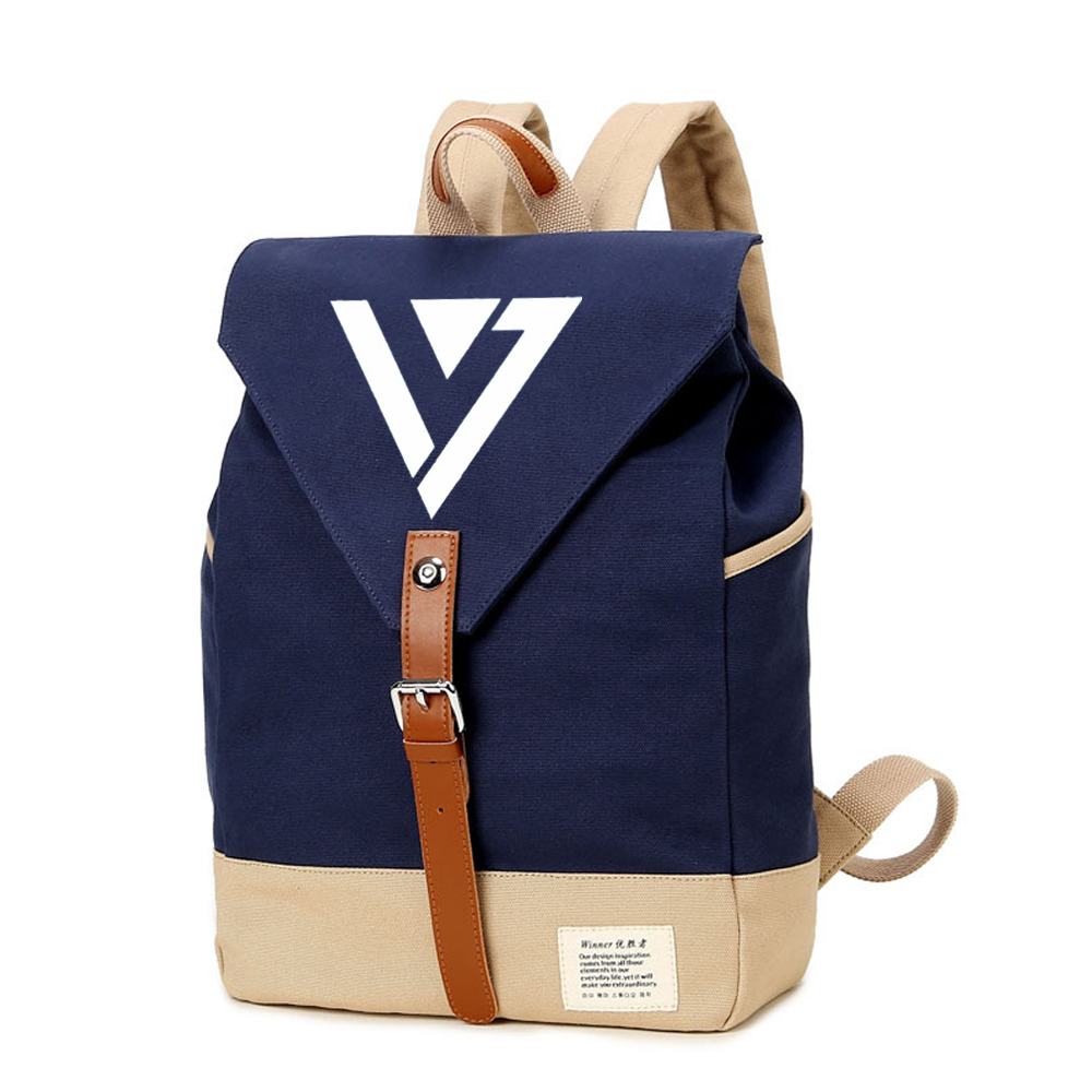 Men's Bags Backpacks Wishot Seventeen 17 Backpack Canvas Bag Schoolbag Travel Shoulder Bag Rucksacks For Women Girls