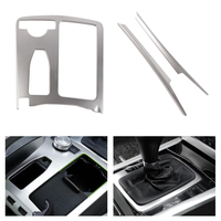 Car Chrome Central Control Water Cup Holder / Gear Shift Panel Cover Sticker For Mercedes Benz C Class W204 C200 C300 C180L
