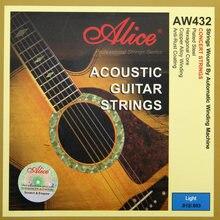AliceAW432-L altıgen çekirdek akustik gitar dizeleri nikel kaplama Ball-End 0.11-0.52 inç/0.12-0.53 inç yeni varış