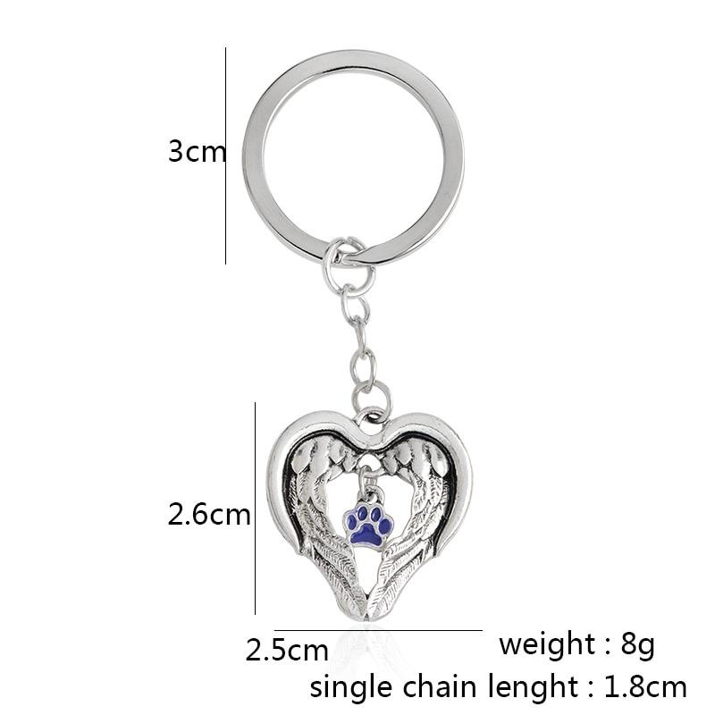 Vingar av en ängel lila tass nyckelring nyckelring hund tass hänge - Märkessmycken - Foto 4