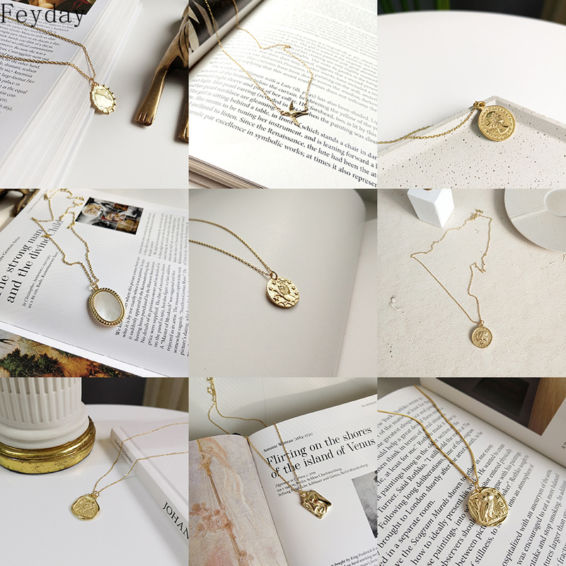 2019 Simple S925 Silver Pendant Necklace for Women Choker Charm Vintage Long Chain Statement Necklace Fashion Jewelry Party Gift