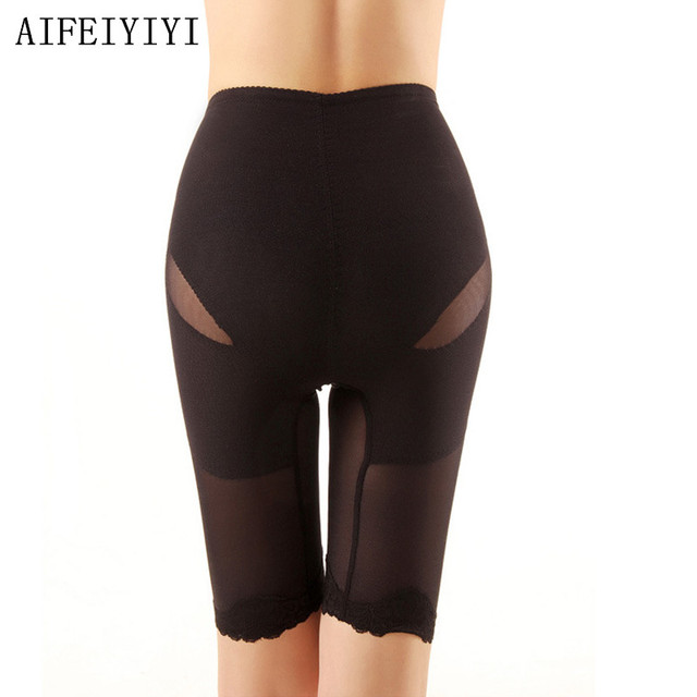 2018 Women High Elastic corset waist underwear Control Panties Lace Breathable quick dry Body shapers High waist mesh camisole