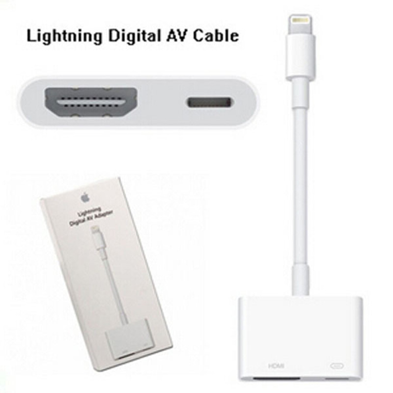 iphone to hdmi adapter. aliexpress.com : buy new brand original genuine lightning to av hdmi/hdtv tv digital cable adapter for iphone 5 5s 6 ipad mini air from hdmi f