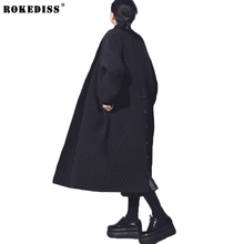 Fashion 2017 New Spring autumn European and American Big Brand Long Loose Black Windbreaker Long Trench Coat for Women TC950