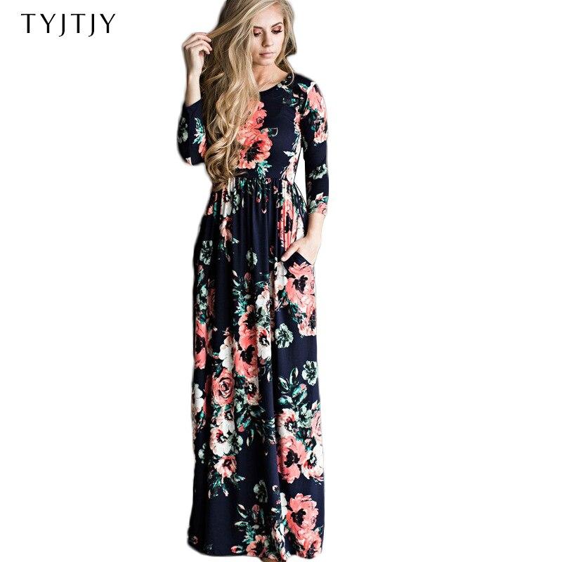2019 neue Boho Strand Kleid Sommer Lange Partei Frauen Kleid Weibliche Blumen Druck Kleid Damen Maxi Kleid Abend Vestidos de festa