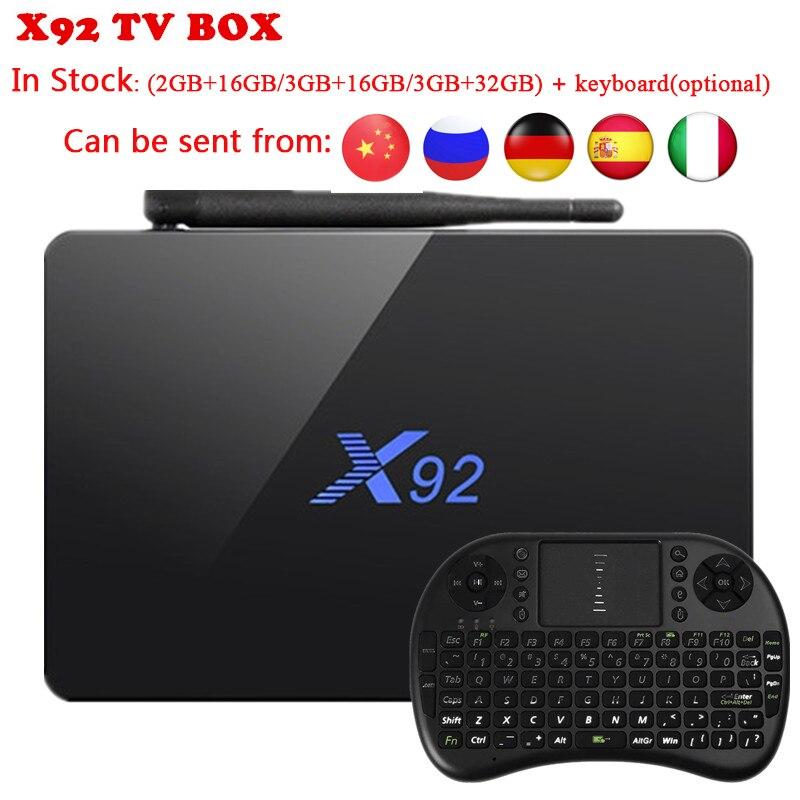 Hot X92 TV Box 3G/32G Amlogic S912 Octa-Core 2.4GHz/5.8GHz WiFi HDMI Smart Set Top Box Bluetooth USB 2.0 PK GT1 Smart TV BOX 10pcs vontar x92 3gb 32gb android 7 1 smart tv box amlogic s912 octa core cpu 2 4g 5g 4k h 265 set top box smart tv box