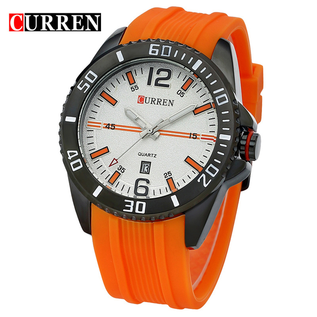 CURREN Мода Повседневное кварцевые часы Для мужчин Спортивные часы Водонепроницаемый часовой бренд часы Для мужчин Wristwatch8178