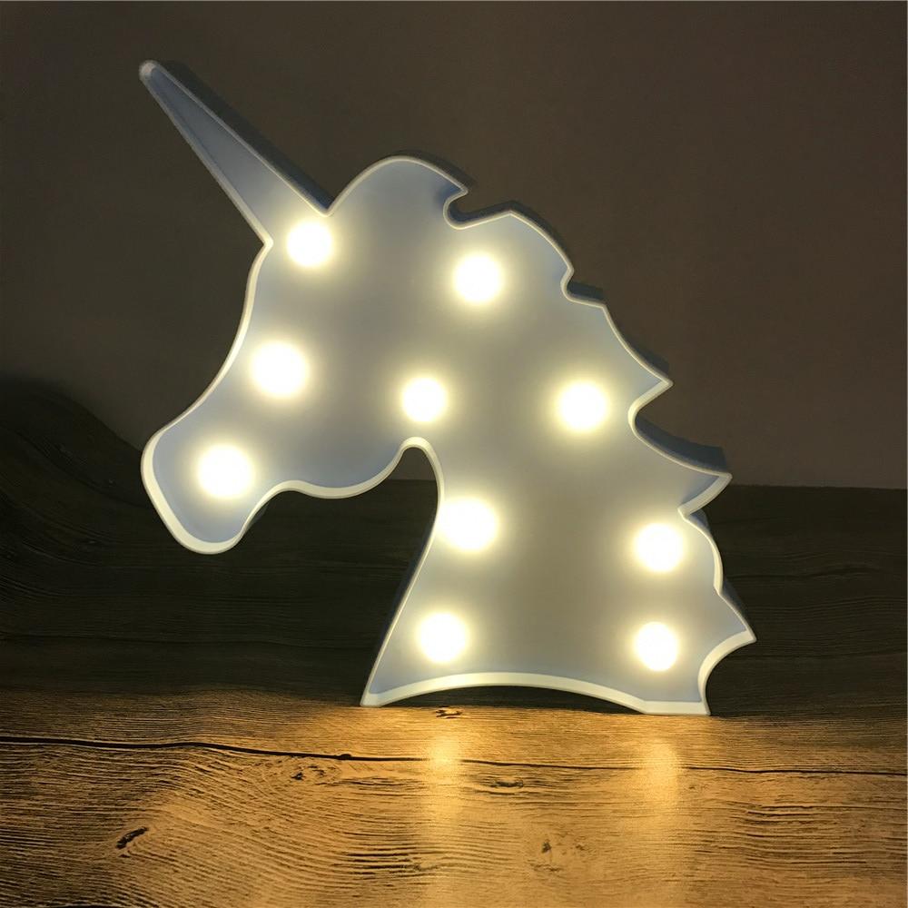 Novelty 3D LED Cute Unicorn Animal Night Light Warm White Shine - Night Lights - Photo 4