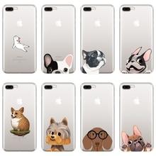 11ca756282c TPU funda para iPhone X XR XS MAX 8 7 6 S 6 6 S perro Bulldog francés de  silicona caso suave para iPhone 8 7 6 S 6 Además de cas.