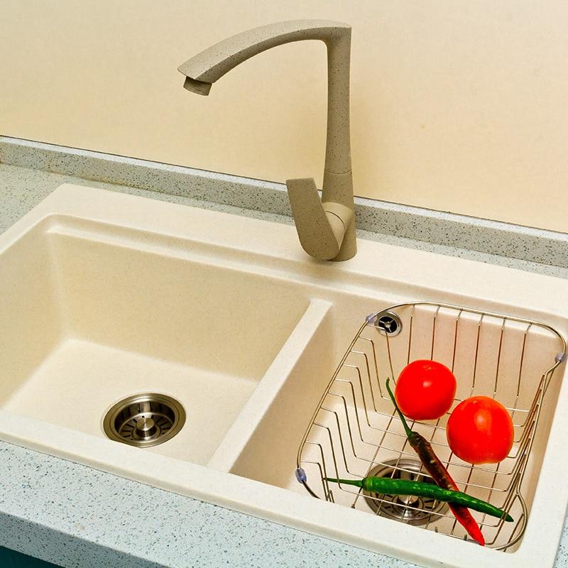 Zwierig Quartz Gemakkelijk Te Reinigen Sink Modieuze High-end Kan Worden Aangepast Dubbele-tank Wastafel Vaatwasser Sink Handleiding Sink