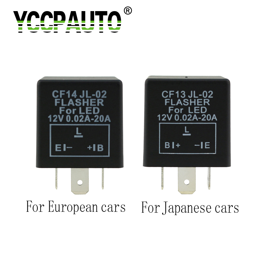YCCPAUTO Car Relay LED Light Flasher cf13 cf14 Flash Relay For Japanese Europe Car Lights No Fast Flashing 1PCS ...