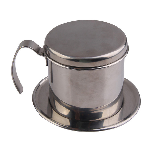 Portable Stainless Steel Coffee Drip Filter Coffee Maker Infuser Vietnam Style Coffee Mug Cup Strainer Coffee Tools