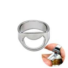 Abridor de garrafa de anel multifunção, abridor de aço inoxidável único criativo para homens, anel de dedo, diâmetro de garrafa, 1 peça 22mm