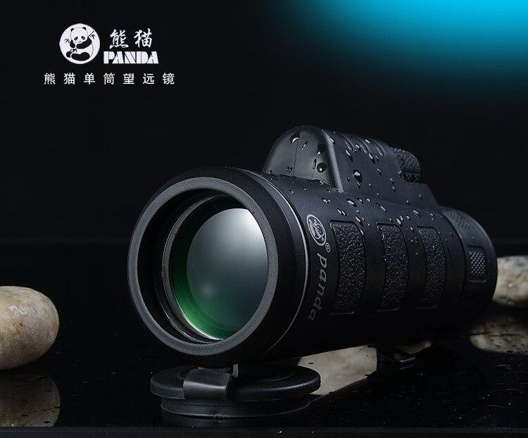 Nouveau panda hd vision portée 35x50 dual focus zoom monoculaire télescope en plein air chasse militaire monoculaires jumelles