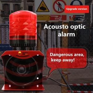 Image 3 - 12V 24V 220V Industrial Horn Siren Emergency Sound and Light Alarm Red LED Flashing Strobe Warning Light with Remote Control