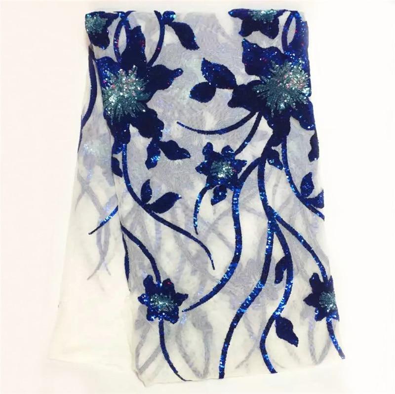 Vysoce kvalitní guipure krajky Tkaniny / módní design afrických krajkových tkanin s flitry / síťovým tylem Krajka pro svatbu SL1012