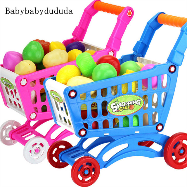 2b8fc63a2 الأطفال في سوبر ماركت عربة التسوق البلاستيكية مصغرة لعبة للأطفال اللعب  التعليم والترفيه لعبة محاكاة سوبر