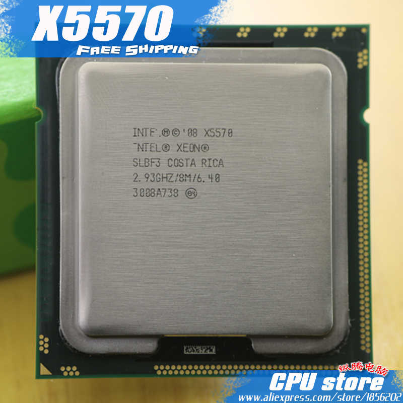 Intel Xeon X5570 CPU processor/2.93 GHz/LGA1366/L3 Cache 8 MB/Quad-Core/server CPU kerja 100% Bebas Biaya scrattered piece