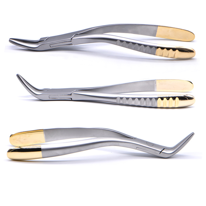 Dental Root Fragment Tooth Extraction Forceps Tooth Pliers Dental Instrument Curved Maxillary Mandibular Teeth Plier Dental Tool