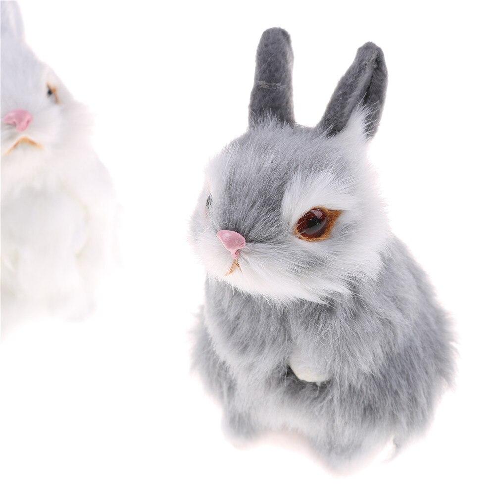 Милые искусственные животные, маленький кролик, плюшевые игрушки с рамкой, подарок на день рождения, детские игрушки, украшения, имитация ми...