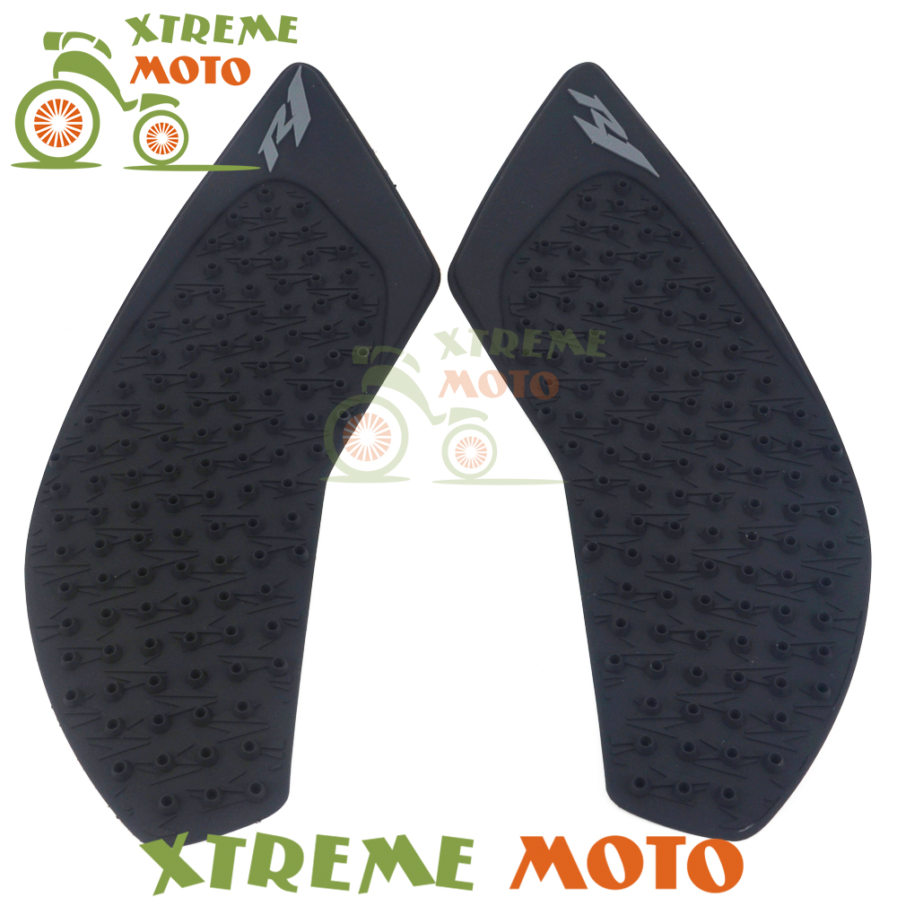 Black Motorcycle Gas Tank Pad Traction Side Pads Gas Fuel Knee Grip Decal Protector For Yamaha YZF R1 2015 2016 bjmoto for ktm duke 390 200 125 motorcycle tank pad protector sticker decal gas knee grip tank traction pad side