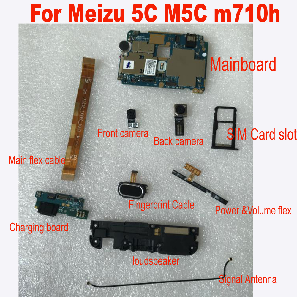 LTPro 1pcs Good Quality Mainboard BACK REAR Camera Charging Board Flex Cable For Meizu M5C / A5 M710H M710Q Reapacement Parts