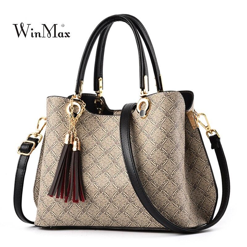 2019 gland sacs à main femmes en cuir Sac à main de luxe Designer dames Sac à bandoulière femme Messenger fourre-tout sacs pour femmes Bolsas Sac