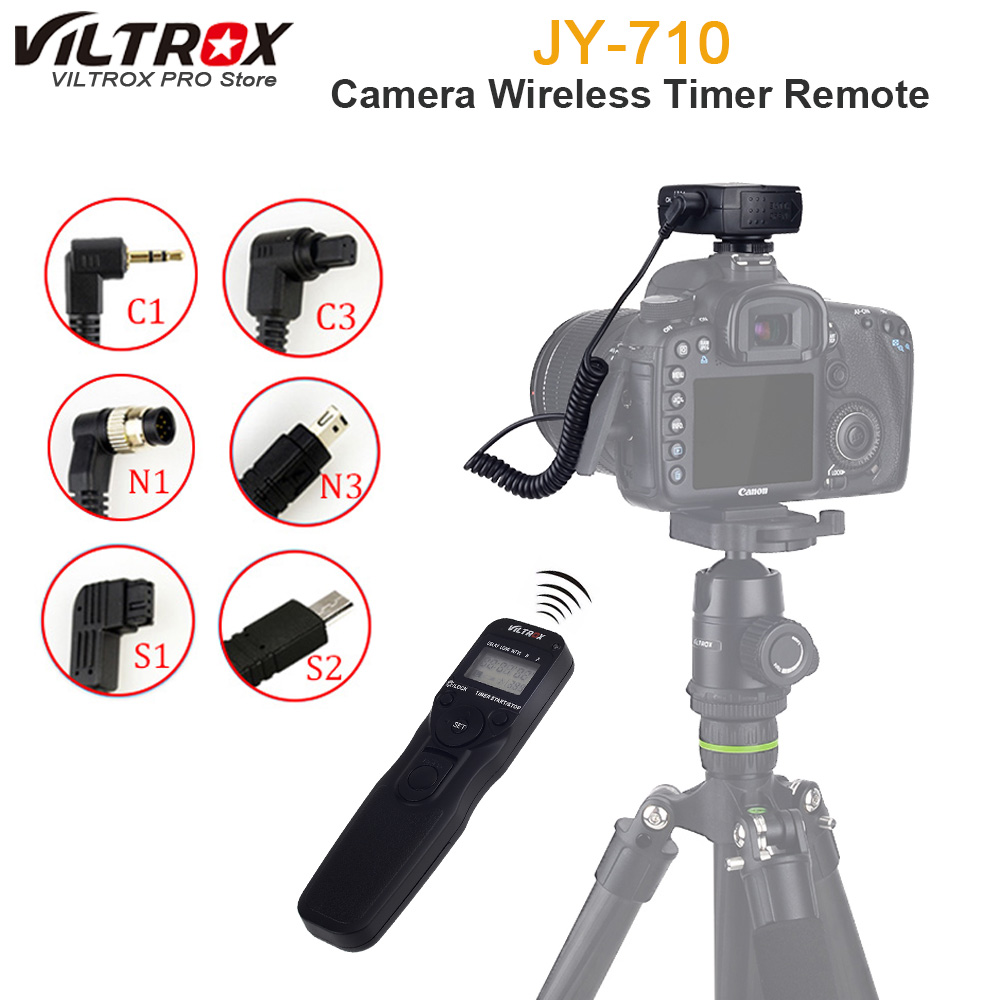 Viltrox JY-710 Camera Wireless Timer Remote Shutter Release Control Cable for Canon Nikon Pentax Panasonic Sony A7 A6000 A6300 cy rc 080 high quality remote switch shutter release cable for digital camera 2 5mm plug