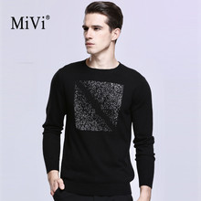 2017 New Winter Autumn Men Sweaters Wool Pullovers MIVI Brand Clothing Knitting Fashion Designer Casual Man Knitwear